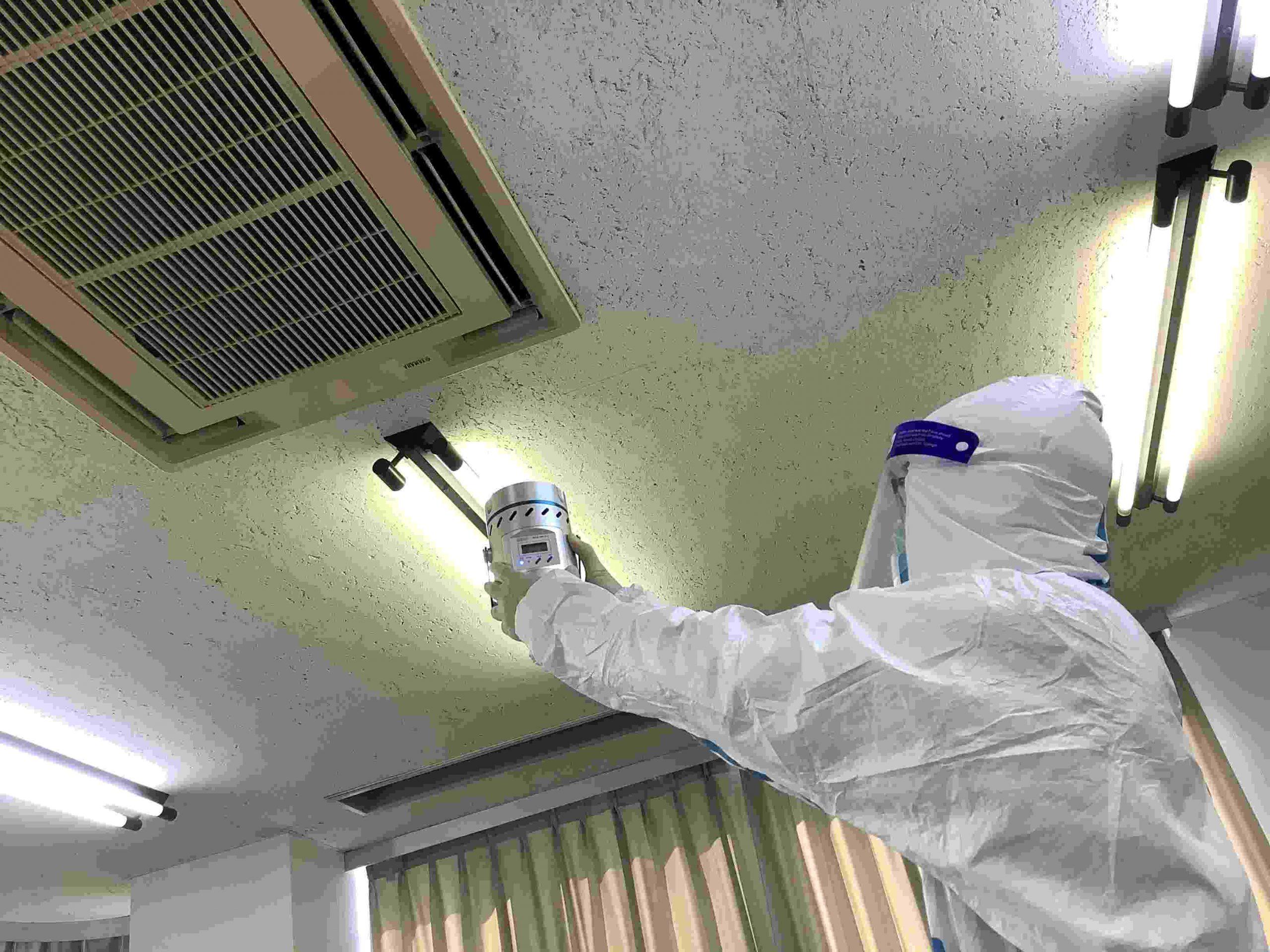 空中浮遊菌 のサンプリング測定